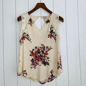 Lucky Brand Women Size XL Floral Lace Sheer Top
